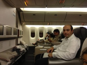 Sadi Evren SEKER flying on business class, Turkish airlines