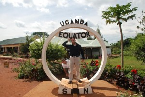 Sadi Evren SEKER at Equator point in Uganda