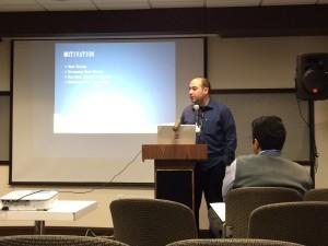 Presenting my paper on ICMLC 2014 Toronto Canada