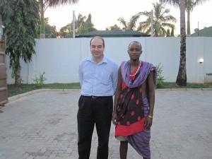 Sadi Evren SEKER with a masai